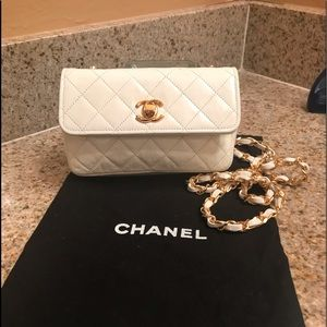 Chanel quilted mini flap bag.